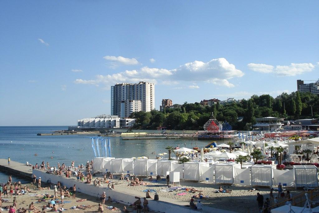пляж аркадия фото