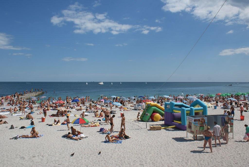 фото ланжерон пляж